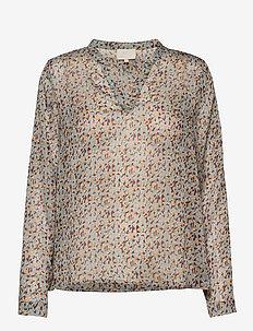 Inaya blouse - blouses med lange mouwen - flower sky print