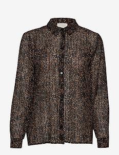 Echo shirt - long sleeved blouses - striped confetti print