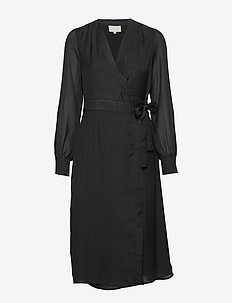 Janelle dress - slå-om-kjoler - sort