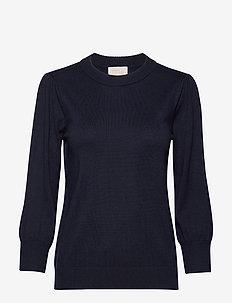 Mersin knit tee - trøjer - black iris solid
