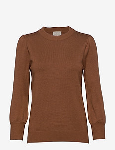 Mersin knit tee - trøjer - brown sugar melange
