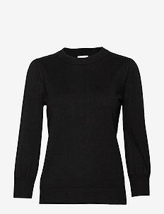 Mersin knit tee - trøjer - sort