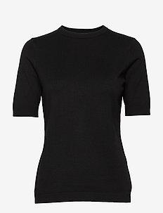 Pamela knit tee - strikkede toppe og t-shirts - sort