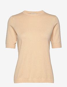Pamela knit tee - strikkede toppe og t-shirts - vanilla