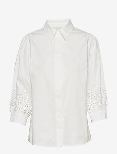 Anika shirt - langærmede bluser - broken white
