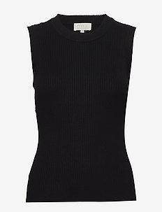 Arina knit top - strikkede toppe og t-shirts - sort