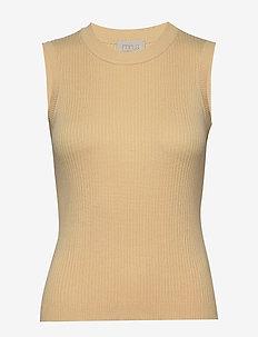 Arina knit top - strikkede toppe og t-shirts - vanilla