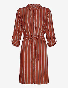 Tory shirt dress - shirt dresses - safran stripe