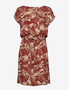 Sunja dress - midi dresses - palm print