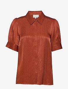 Sanja shirt - kortermede skjorter - safran