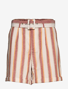 Mickie shorts - casual shorts - mineral red stripes