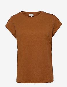 Leti tee - t-shirts - brown sugar