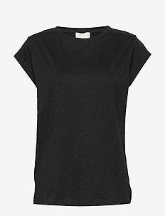 Leti tee - t-shirts - sort
