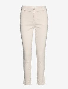Carma striped 7/8 pants - slim fit bukser - nomad sand striped