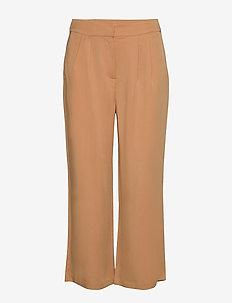 Emissa pants culotte - bukser med brede ben - almond