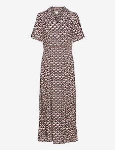 Mili dress - midi dresses - graphic shapes black iris print