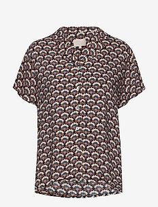 Mili shirt - kortermede bluser - graphic shapes black iris print