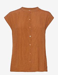 Erisa shirt - kortermede bluser - graphic waves print