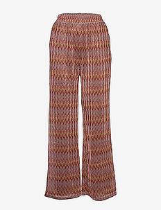 Vafia pants - bukser med brede ben - brown sugar