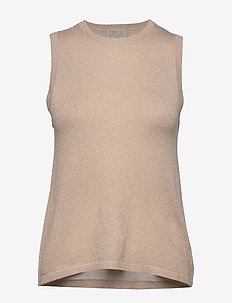 Raka knit top - strikkede toppe og t-shirts - medal gold melange/lurex