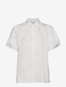 Elaisa shirt - kortermede skjorter - cloud dancer