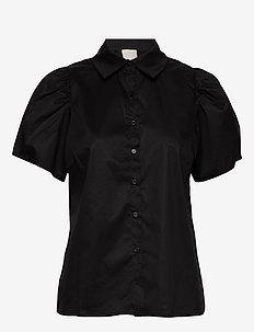 Elaisa shirt - kortermede skjorter - sort