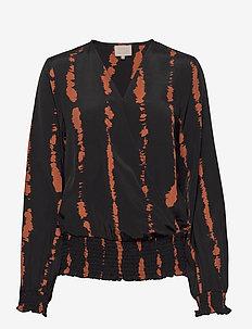 Vally blouse - blouses à manches longues - brown sugar tie dye print