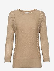 Ria knit pullover - trøjer - nomad sand