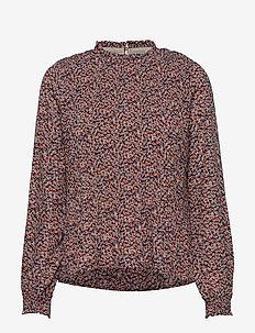Vallie blouse - blouses à manches longues - fiery flower print