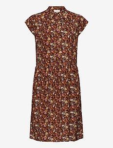 Cesena sleeveless dress - shirt dresses - bloom print safran