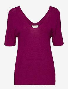 Bex knit tee - strikkede toppe og t-shirts - fuchsia
