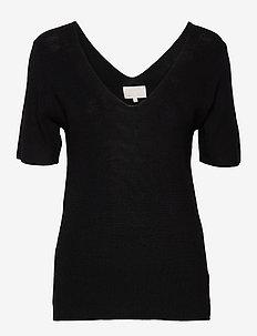 Bex knit tee - strikkede toppe og t-shirts - sort