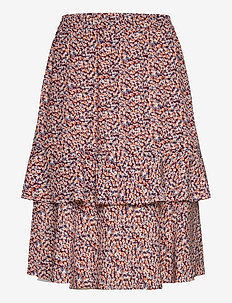 Vallie skirt - midi skirts - fiery flower print