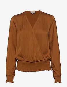 Chaimae blouse - blouses à manches longues - tobacco