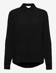 Valva shirt - koszule z długimi rękawami - sort