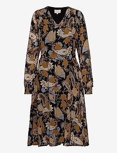 Ruca dress - earthy print