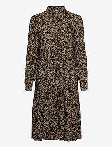 Sapri dress - sukienki do kolan i midi - golden bloom print