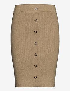 Maranola knit skirt - midi skirts - nomad sand melange
