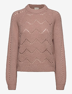 Damika knit pullover - swetry - pale rose