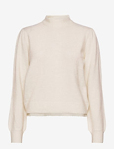 Angie knit pullover - trøjer - broken white