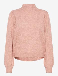 Angie knit pullover - trøjer - pale rose melange