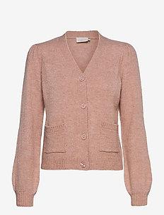 Angie knit cardigan - swetry rozpinane - pale rose melange