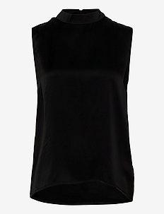 Justine silk top - blouses zonder mouwen - sort