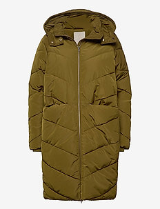 Georgina coat - wyściełane kurtki - olive