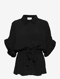 MINUS x BOOZT Ariana shirt - kortærmede bluser - sort
