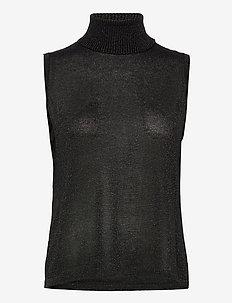 Raka knit turtleneck - Ærmeløse toppe - black lurex