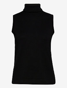 Raka knit turtleneck - hauts sans manches - sort