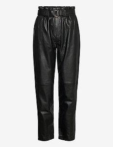Jessi leather pants - lederhosen - sort