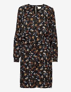 Jessica dress - midi kjoler - graphic winter garden print