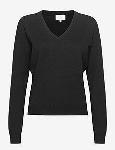Elvira knit pullover - trøjer - sort